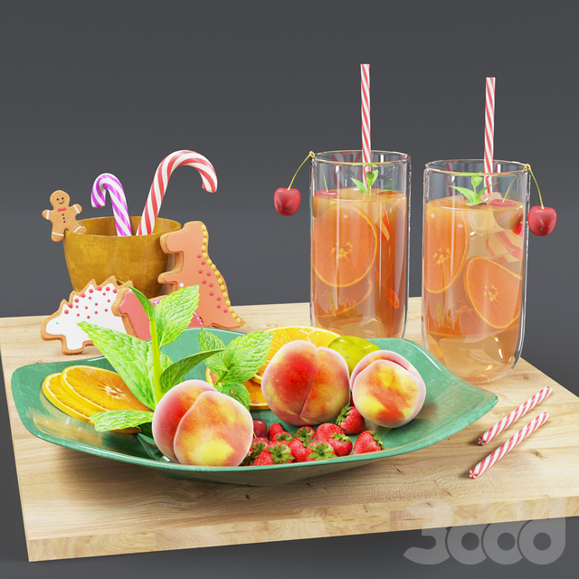 juice and sweets