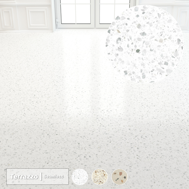 Seamless Terrazzo Stone 005