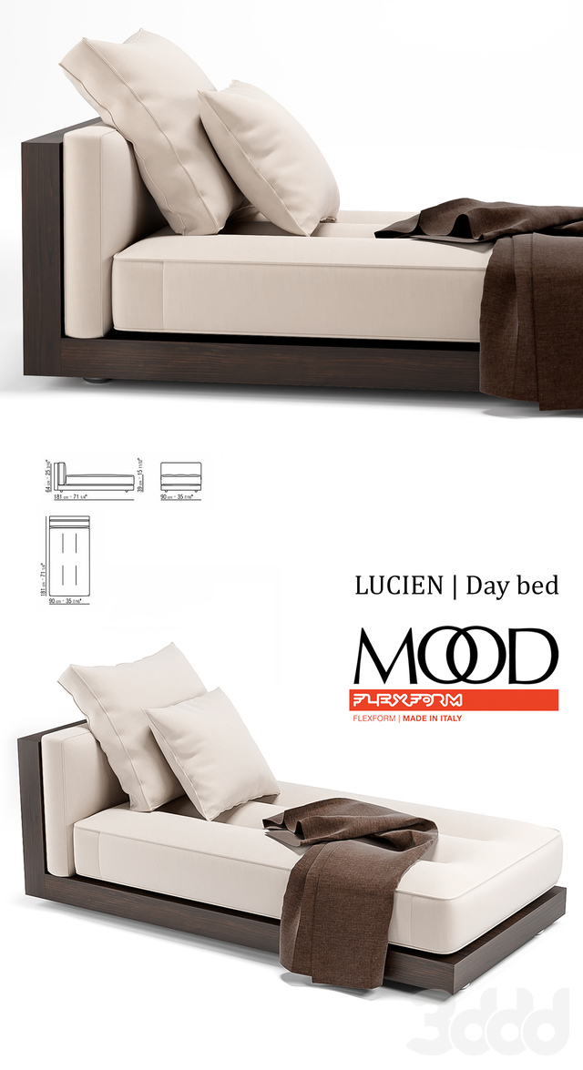 Lucien  Day bed Mood by Flexform