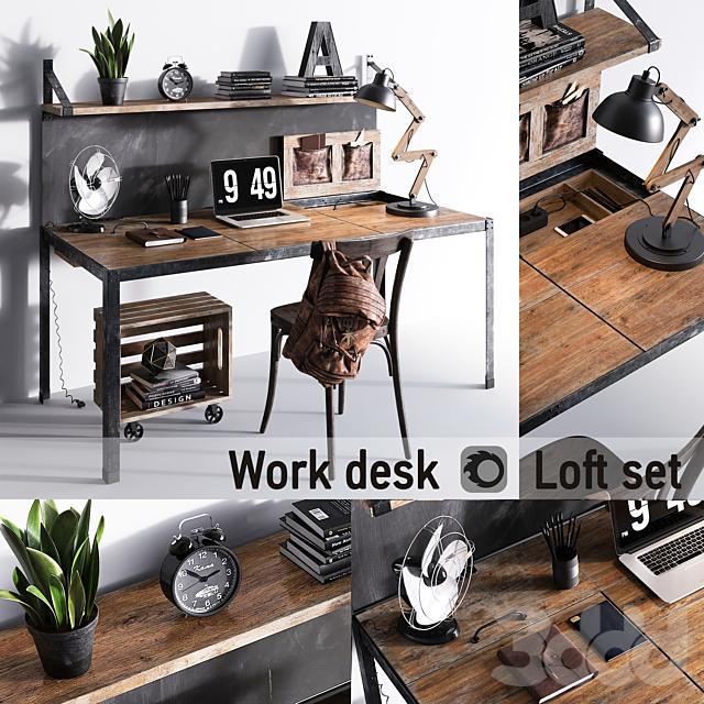 Work desk | Loft set