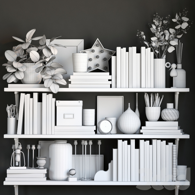 Black and white decor set 5