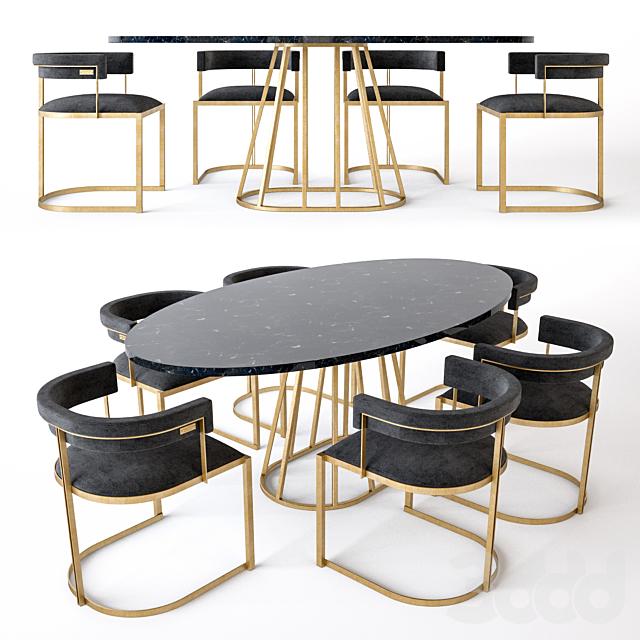 Стул Fitzgerald и стол Aile Rooma Design & Furniture