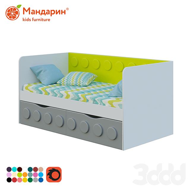 Диван-кровать детская с двумя ящиками