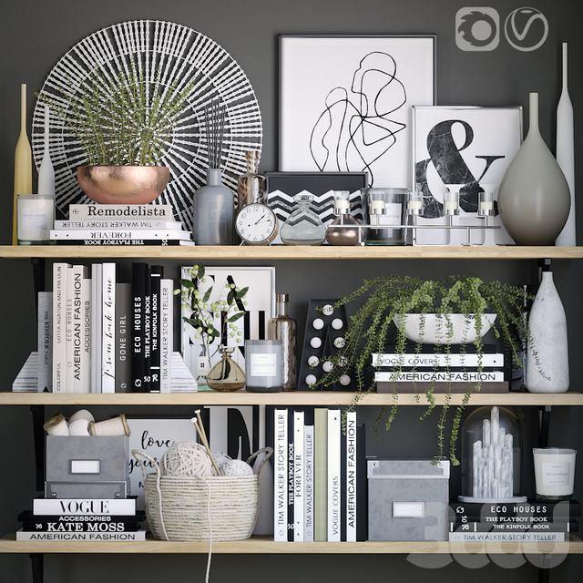 Black and white decor set 6