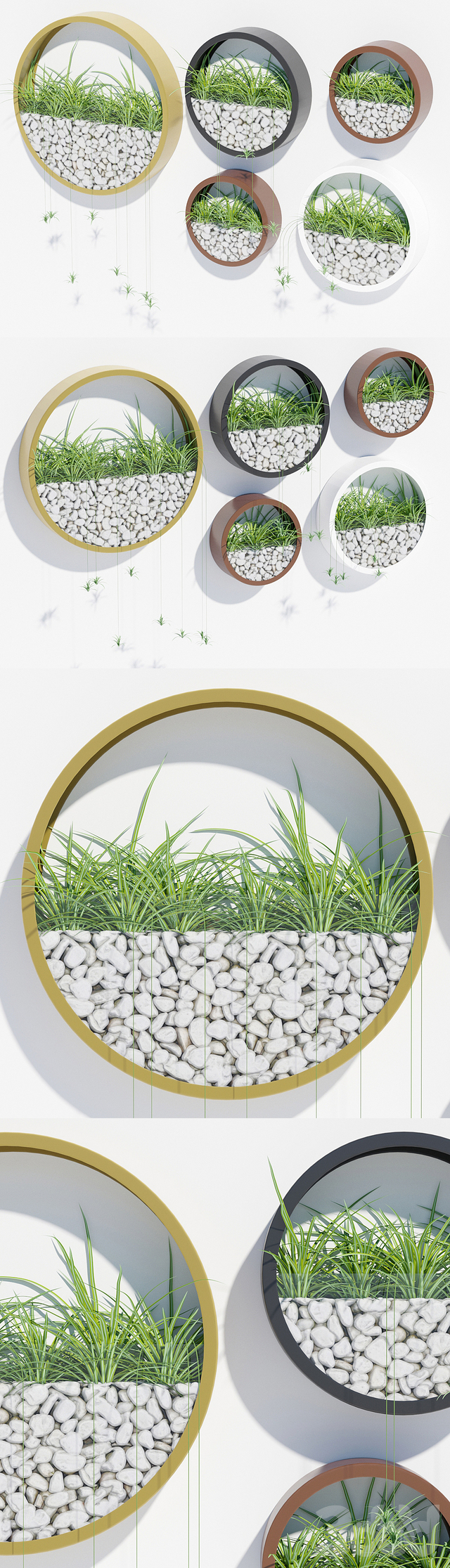 Wall planters two