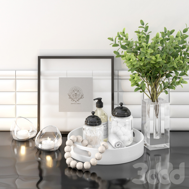 DECORATIVE SET BY SELIVERSTONE №6 FOR BATHROOM