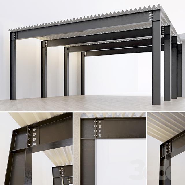 Металлическая конструкция. Балка. Колонна