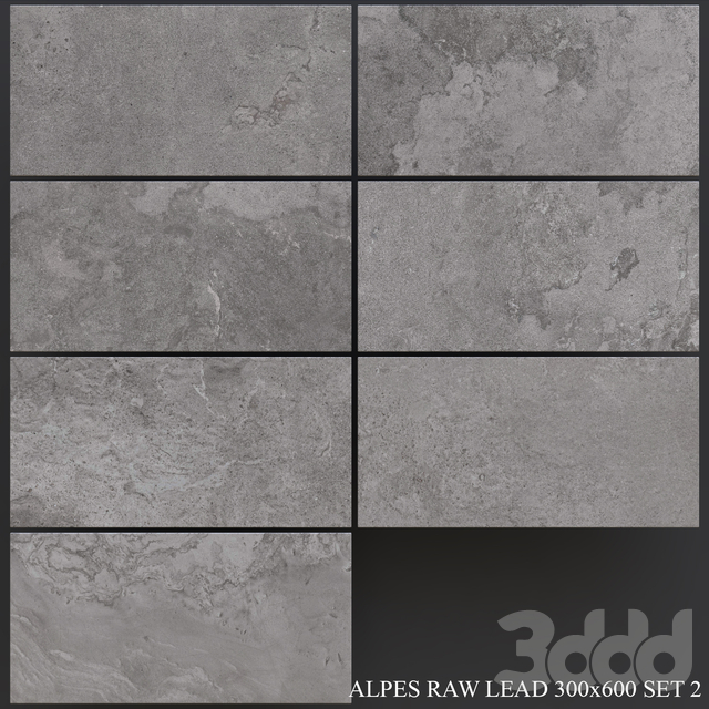 ABK Alpes Raw Lead 300x600 Set 2