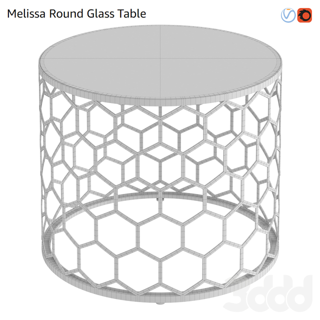 Melissa Round Glass Table