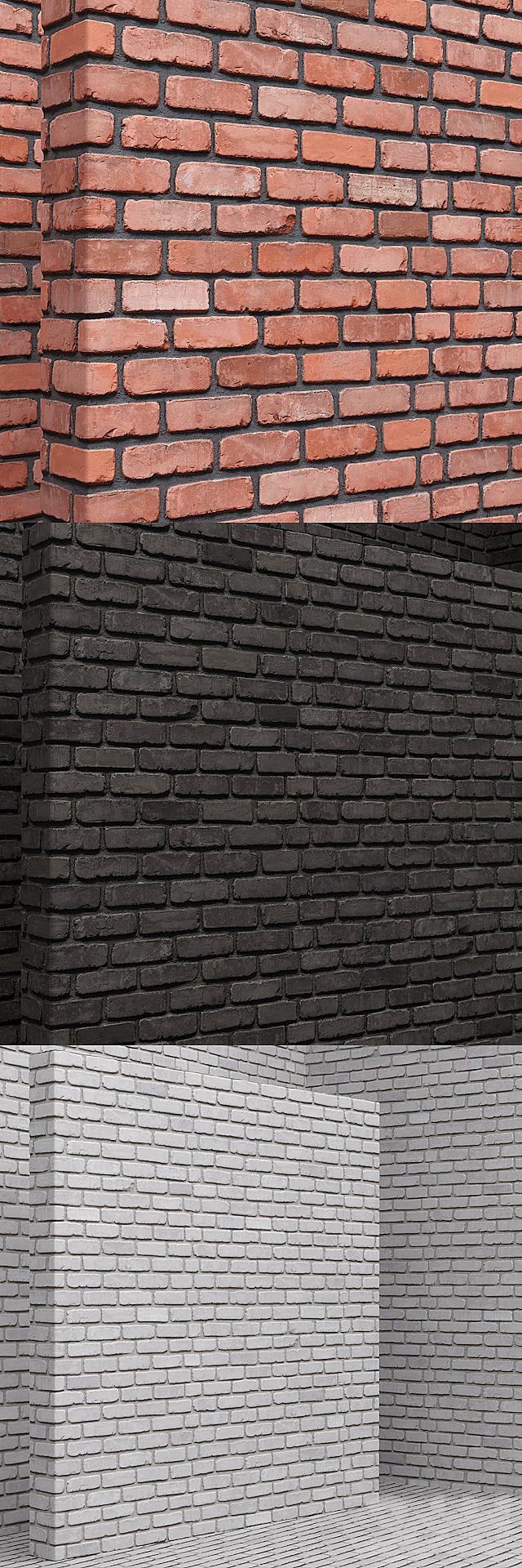 Материал (бесшовный) - кирпич, плитка set 12