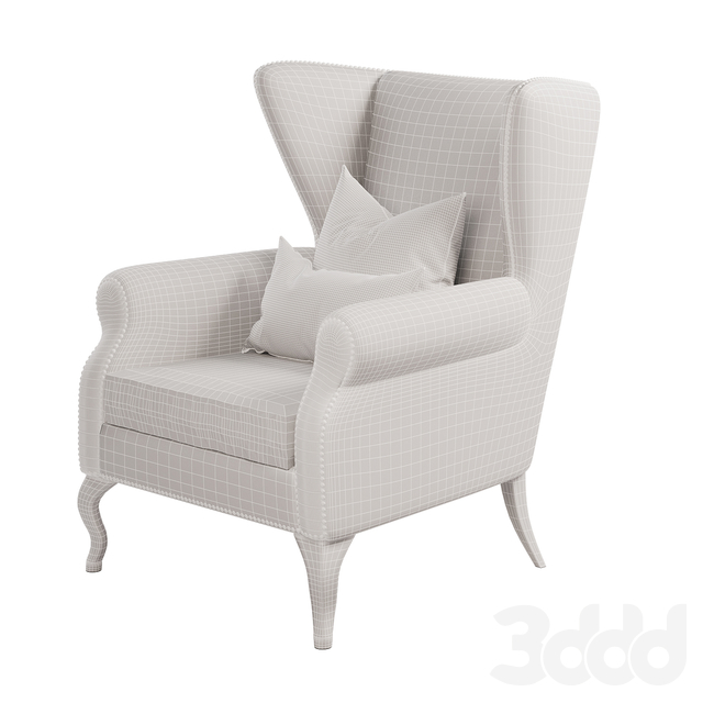 Navy Blue Royal Wing Chair