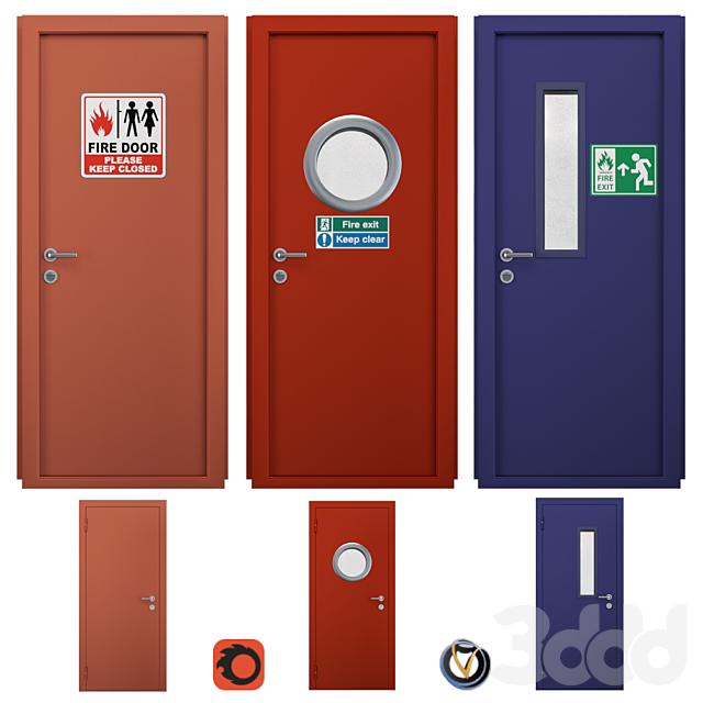 Двери противопожарные (3 шт.)