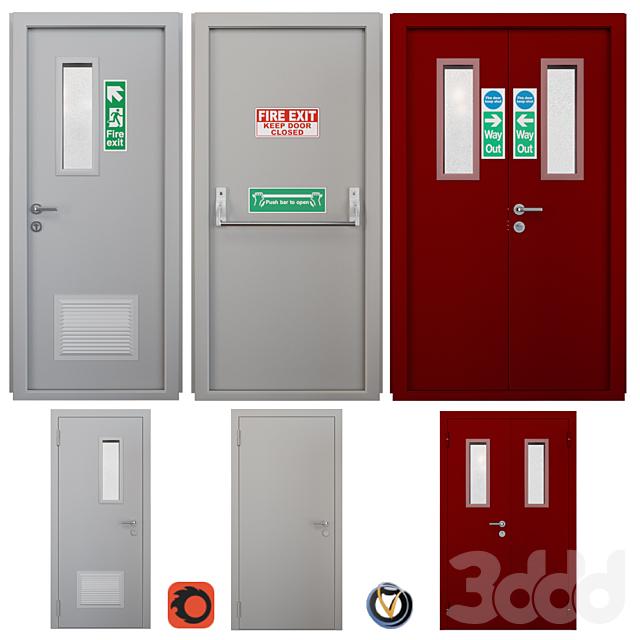 Дверь противопожарная 2 (3 шт.)
