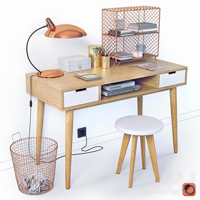 Рабочий стол с декором La Redoute JIMI