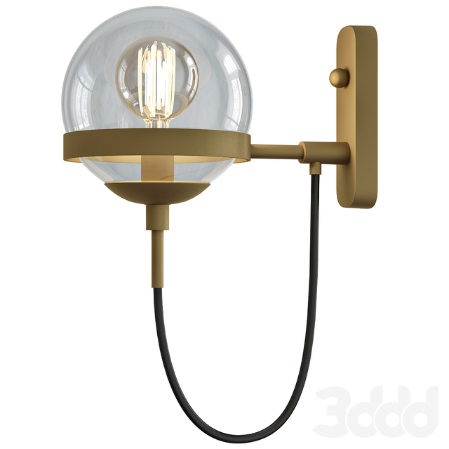 Retro Antique Brass 1-Light Wall Sconce