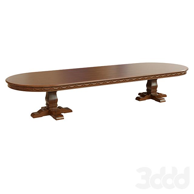 Обеденный стол с резьбой_4000