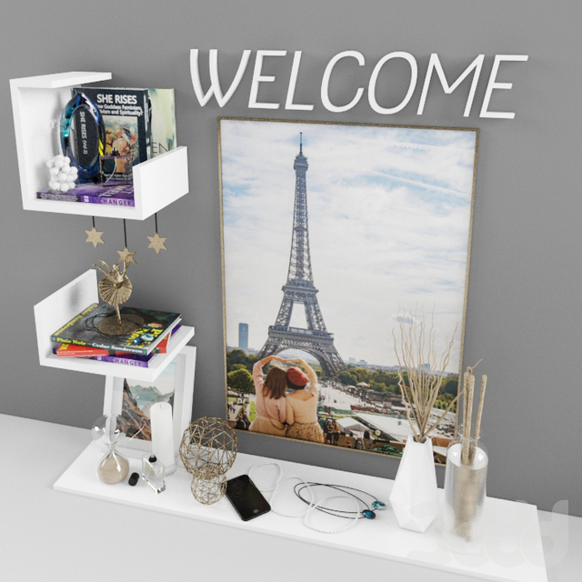 Decorative set 04 - welcome shelves