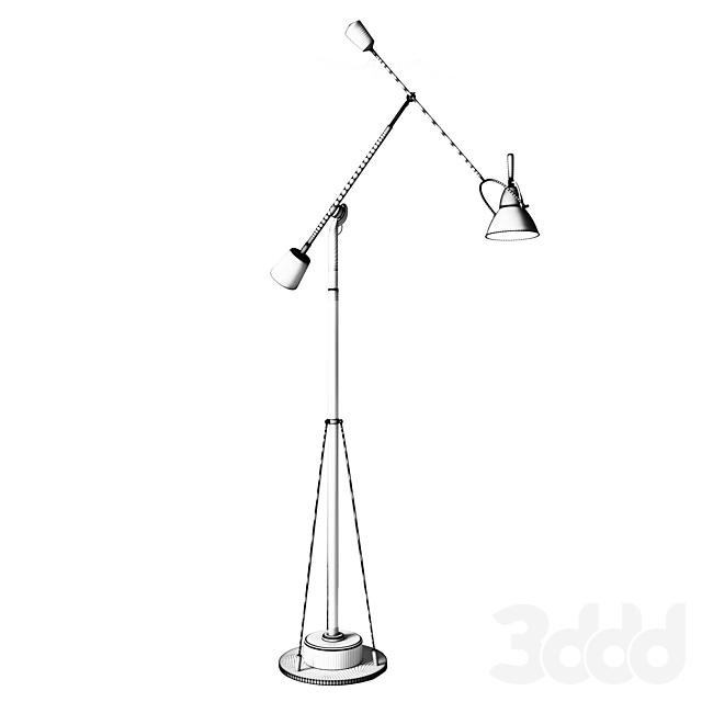 Counterpoise Task Floor Lamp   Chrome RH