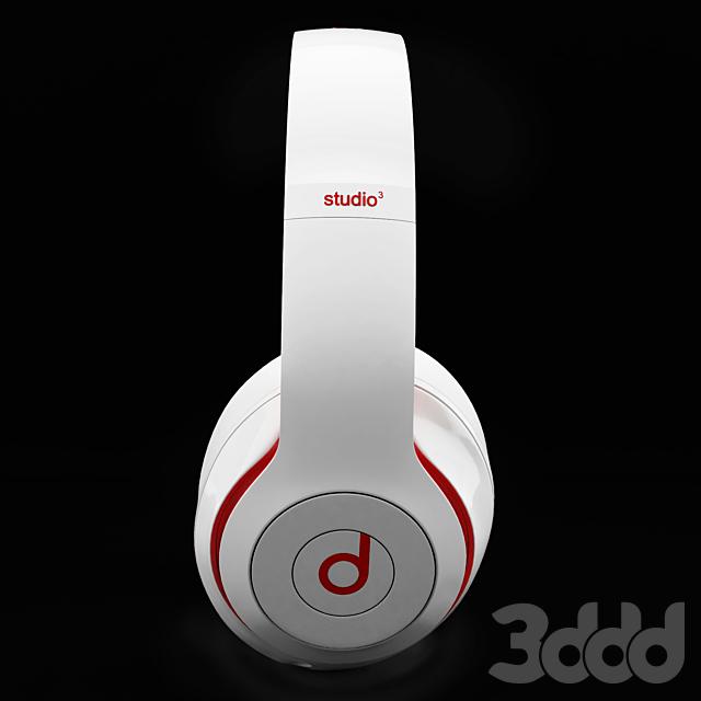 Headphones Beats Studio 3 White & Red