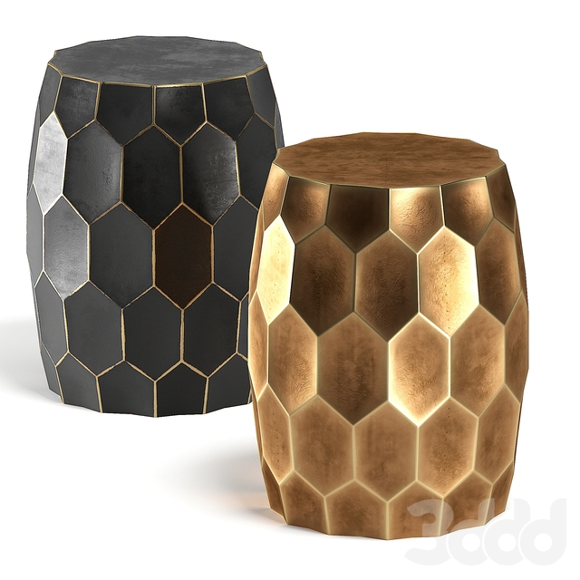Brass Black Side Table