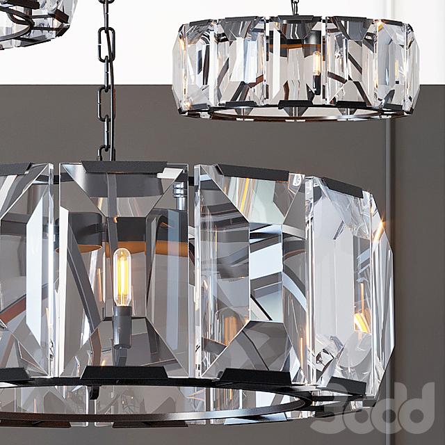 Люстра RH Harlow Crystal Round Chandelier 6
