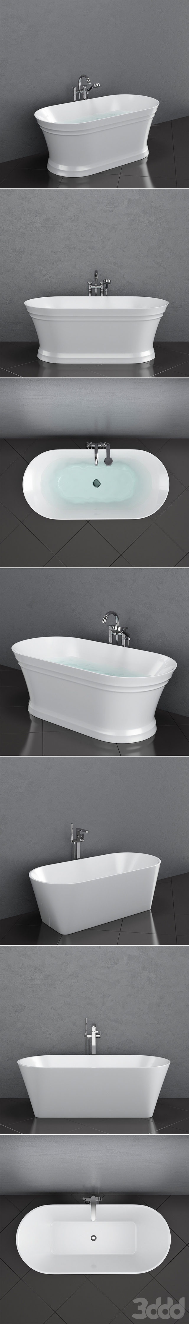 Набор отдельностоящих ванн Ravak set 35 (Solo, Retro, Freedom W, Freedom O)