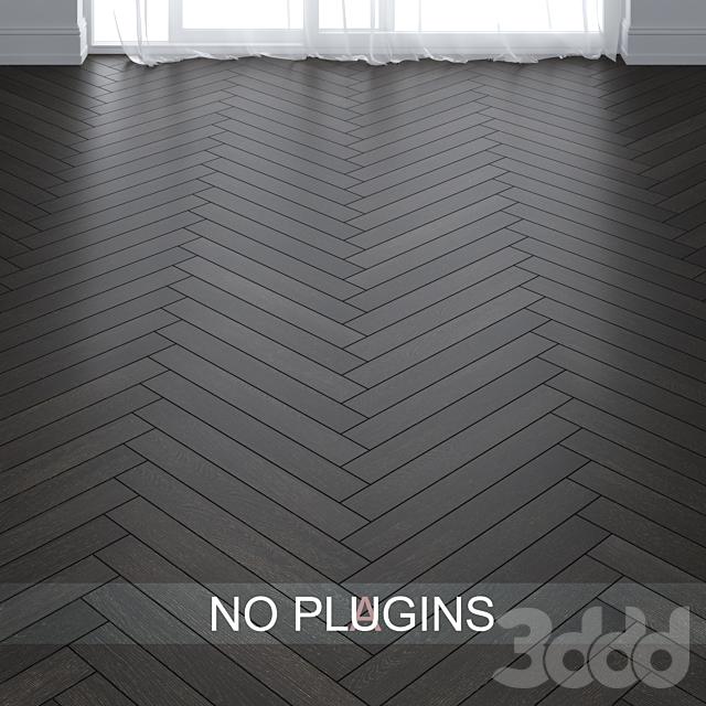 Dark Teak Wood Parquet Floor Tiles vol.004 in 2 types