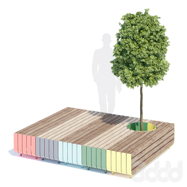 Stripes bench