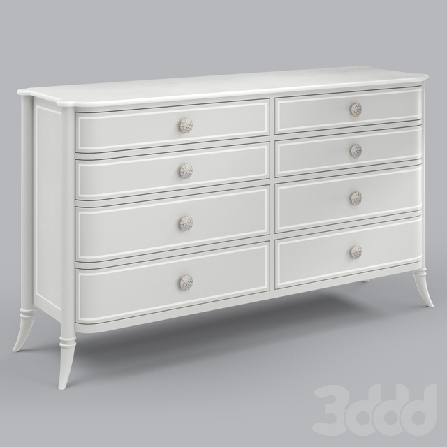 Adalie French Country Grey Double Dresser