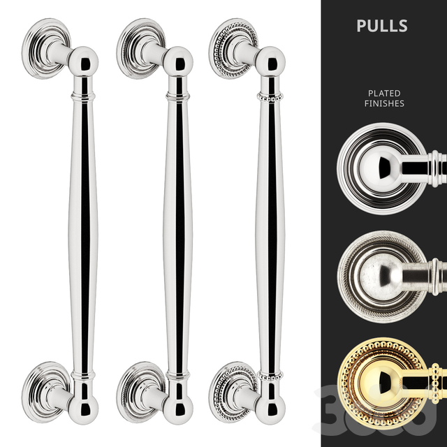 Door Pull Handles Nanz N° 6826, 26R, 26B