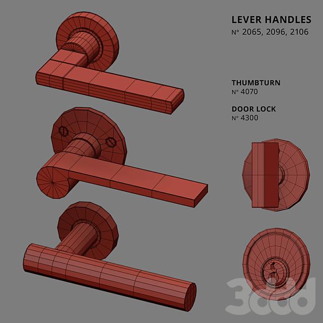 Door Lever Handles Nanz N° 2065, 2096, 2106