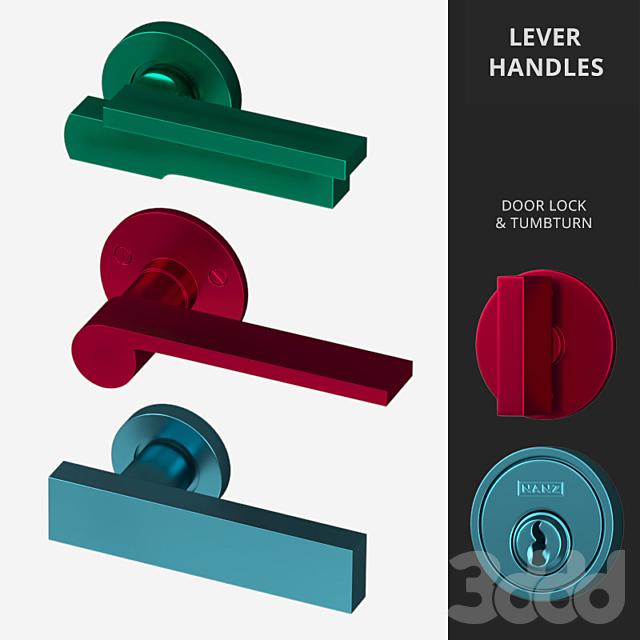 Door Lever Handles Nanz N° 2094, 2096, 2083