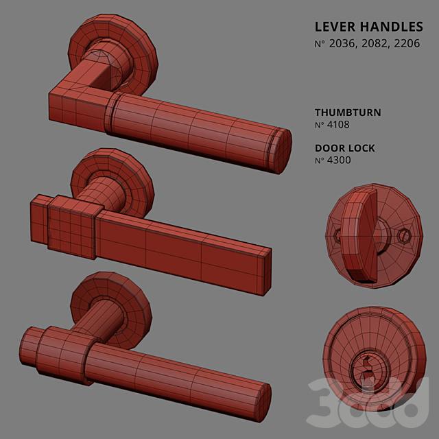 Door Lever Handles Nanz N° 2036, 2082, 2206