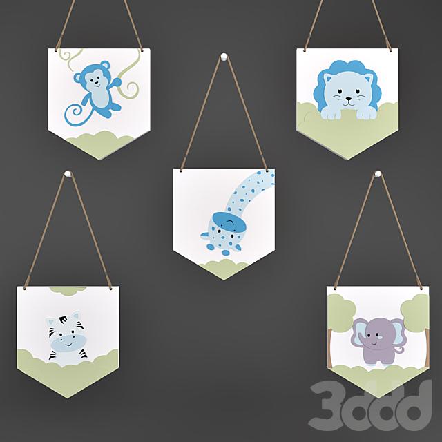 Декор для детской Friends Safari Blue