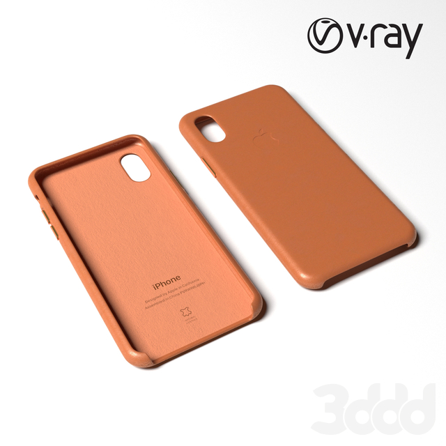 iPhone XS Leather case - brown