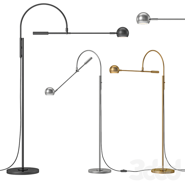 RH - Orbiter II Task Floor Lamp
