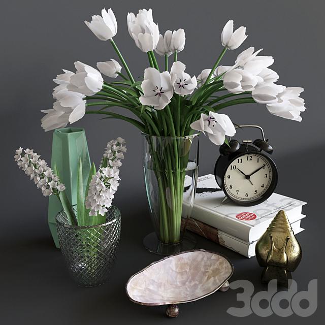 Декоративный набор с тюльпанами