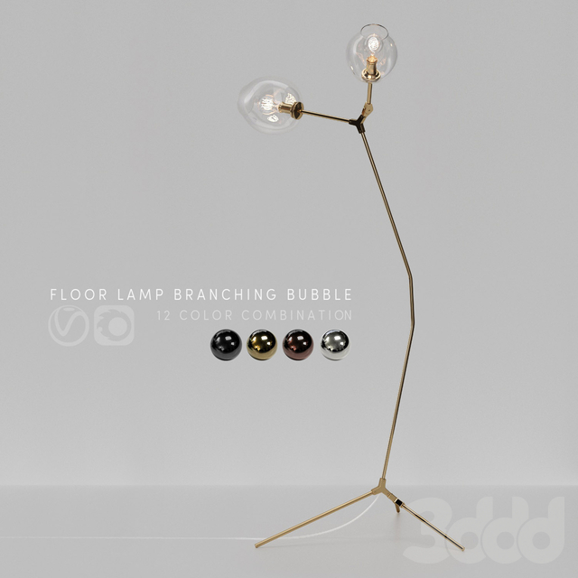 Floor lamp Branching Bubble