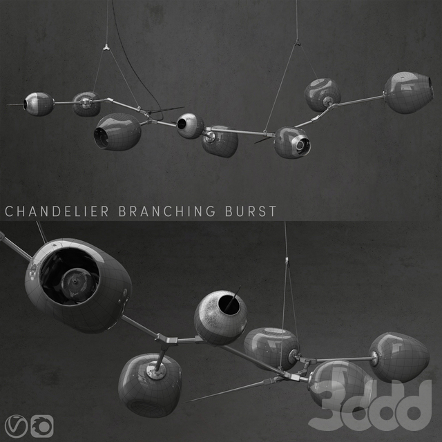 Branching burst 6 lamps