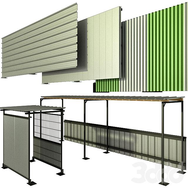 Защитно охранные ограждения строительных площадок, забор