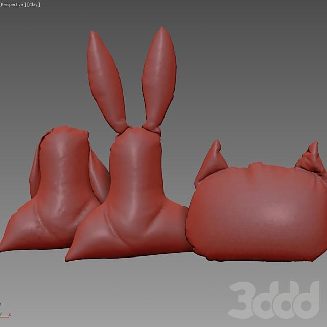 Подушки заяц и кот от Kare design