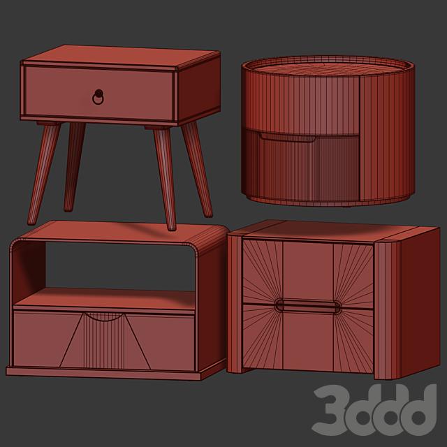 Тумбы от IMODERN (set2). Nightstand, bedside table.