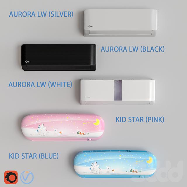 Кондиционеры Midea - Aurora и Kids Star