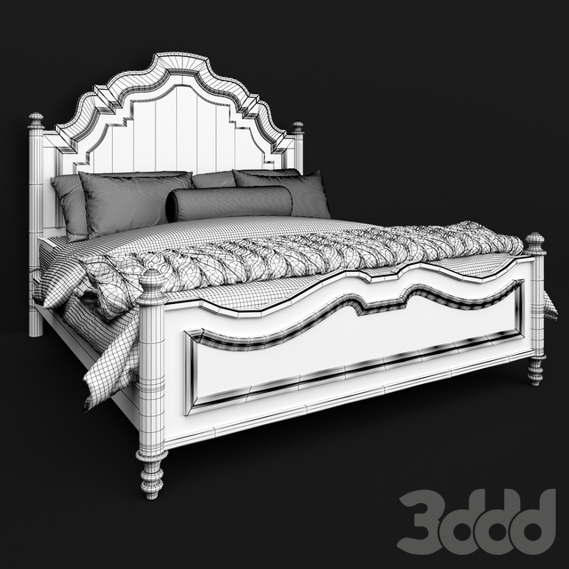Hooker Furniture Bedroom Auberose King Panel Bed