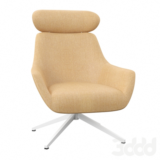 Brady Swivel Headrest Lounge Chair
