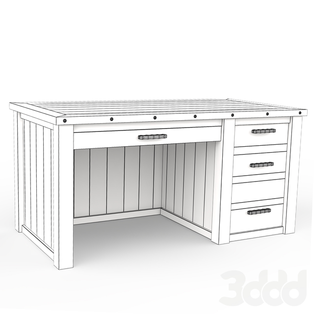 Стол Rough Barnwood Executive Desk