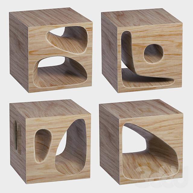 Набор деревянных кубиков