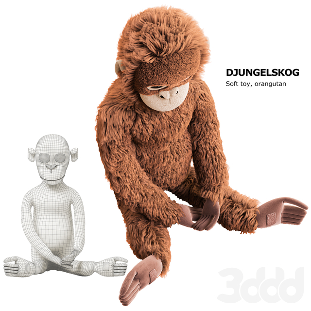 DJUNGELSKOG Soft toy, orangutan Ikea / мягкая игрушка ДЬЮНГЕЛЬСКОГ орангутанг Икеа