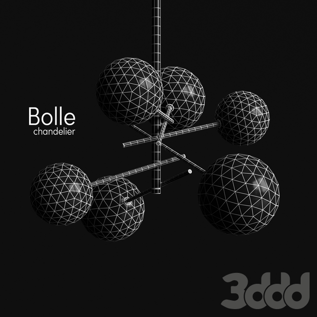 Chandelier Gallotti & Radice Bolle 6 lights