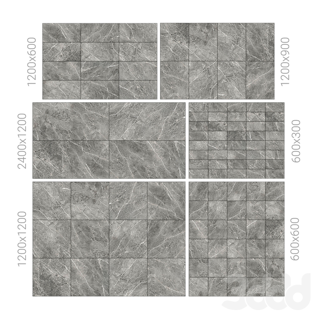 Grey marble tiles